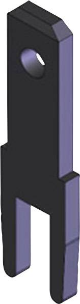 Faston zástrčka Vogt Verbindungstechnik 3785c08.68 2.8 mm x 0.8 mm, 180 °, bez izolace, kov, 100 ks