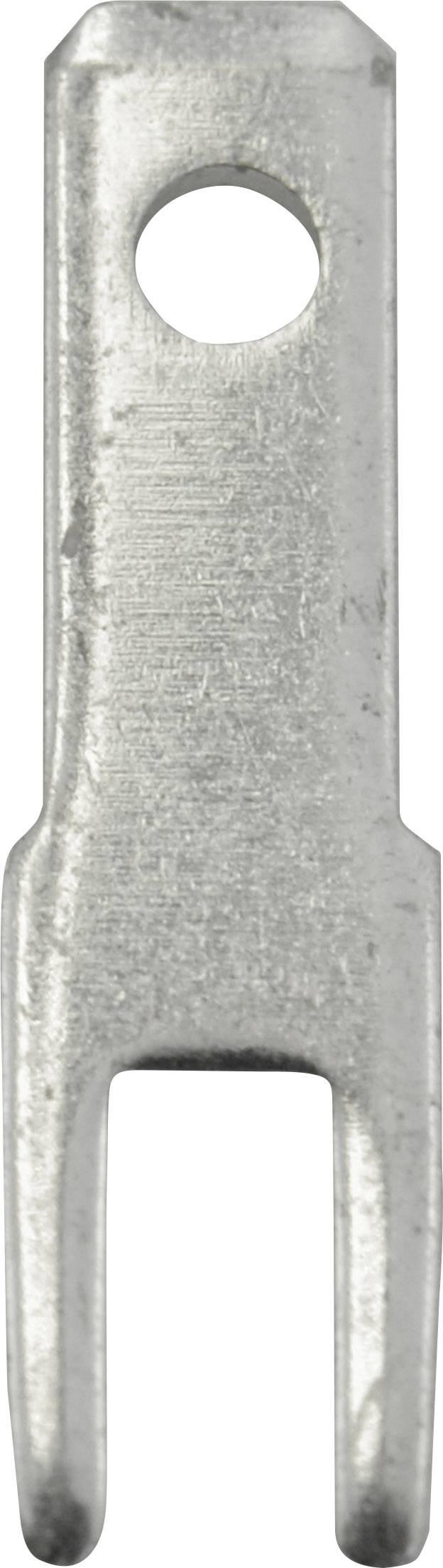 Faston zástrčka Vogt Verbindungstechnik 3785a05.68 2.8 mm x 0.5 mm, 180 °, bez izolace, kov, 100 ks