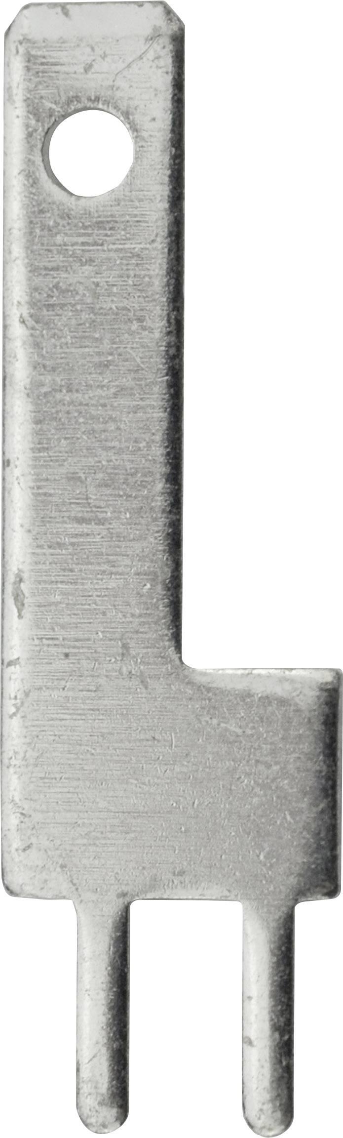 Faston zástrčka Vogt Verbindungstechnik 3785q08.68 2.8 mm x 0.8 mm, 180 °, bez izolace, kov, 100 ks