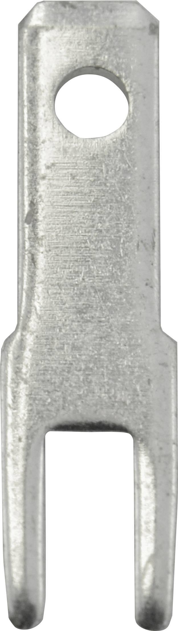 Faston zástrčka Vogt Verbindungstechnik 378508.68 2.8 mm x 0.8 mm, 180 °, bez izolace, kov, 100 ks
