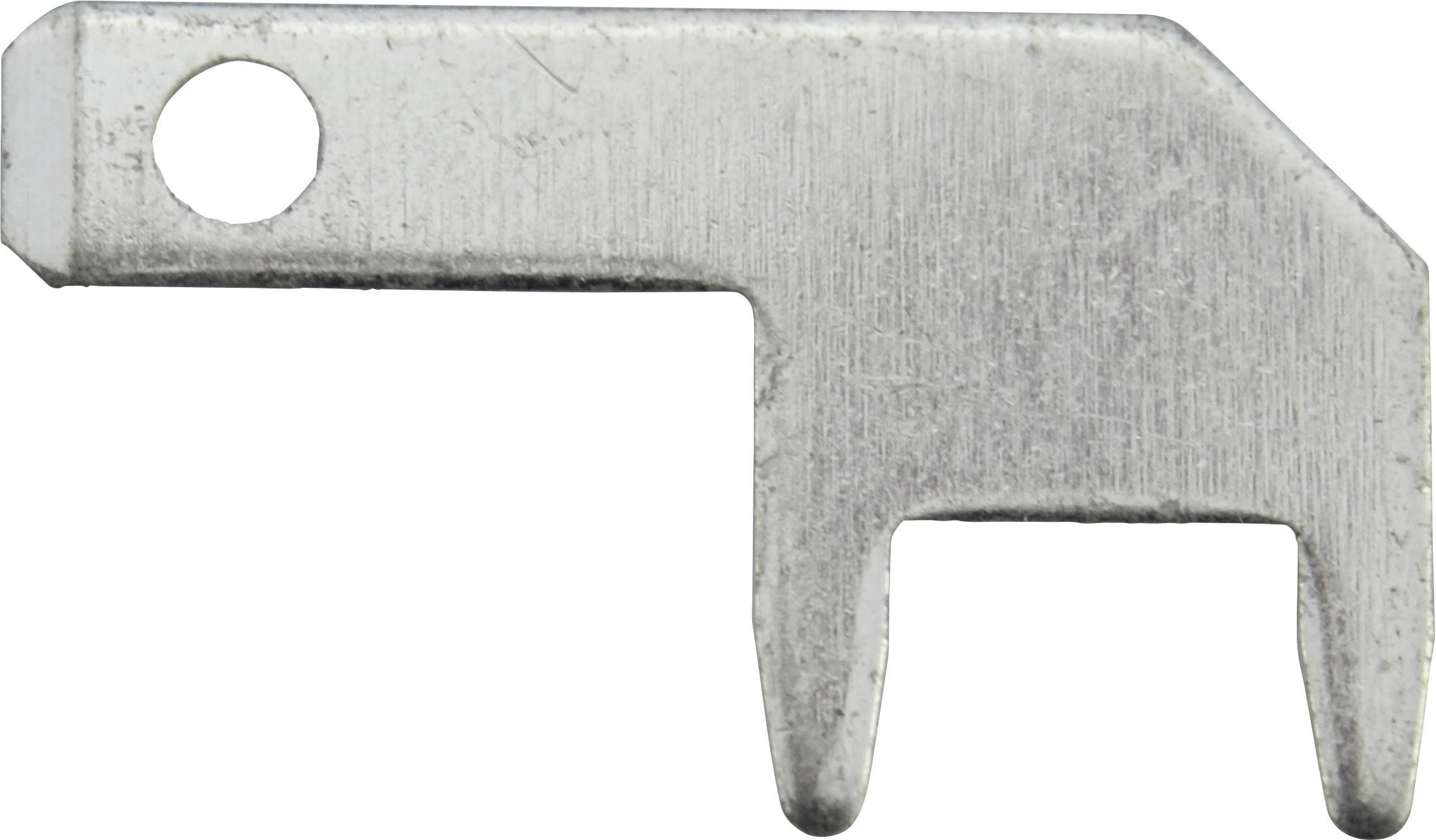 Faston zástrčka Vogt Verbindungstechnik 378905.68 2.8 mm x 0.5 mm, 90 °, bez izolace, kov, 100 ks