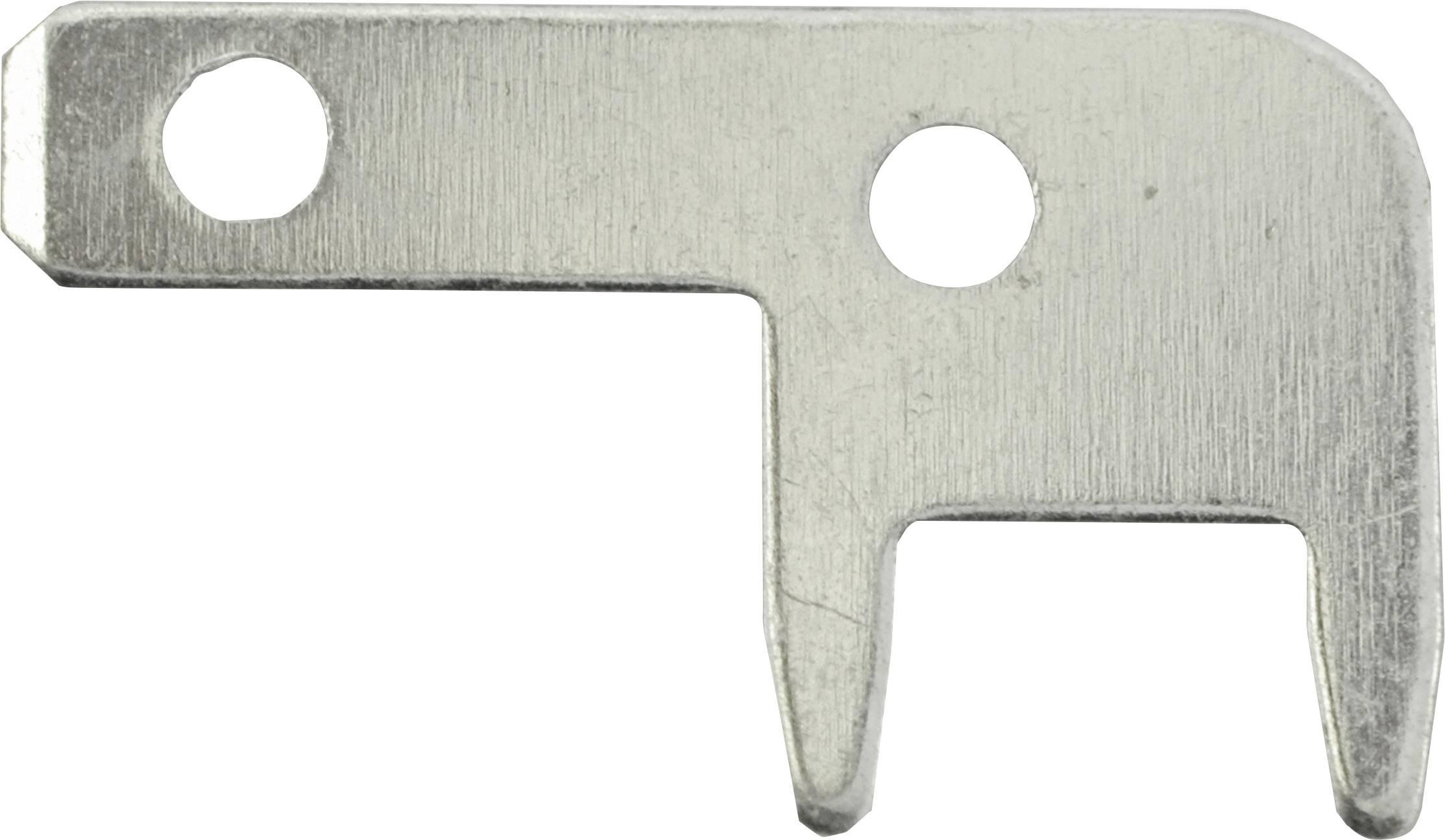 Faston zástrčka Vogt Verbindungstechnik 3789c05.68 2.8 mm x 0.5 mm, 90 °, bez izolace, kov, 100 ks