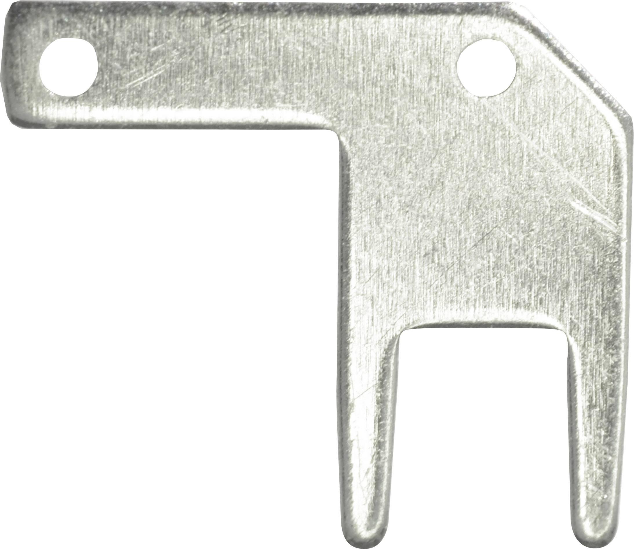 Faston zástrčka Vogt Verbindungstechnik 378705.68 2.8 mm x 0.5 mm, 90 °, bez izolace, kov, 100 ks