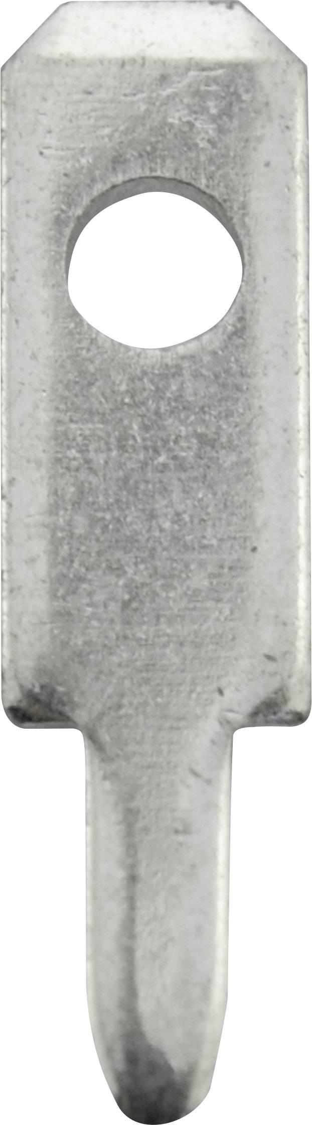Faston zástrčka Vogt Verbindungstechnik 378708.68 2.8 mm x 0.8 mm, 90 °, bez izolace, kov, 100 ks