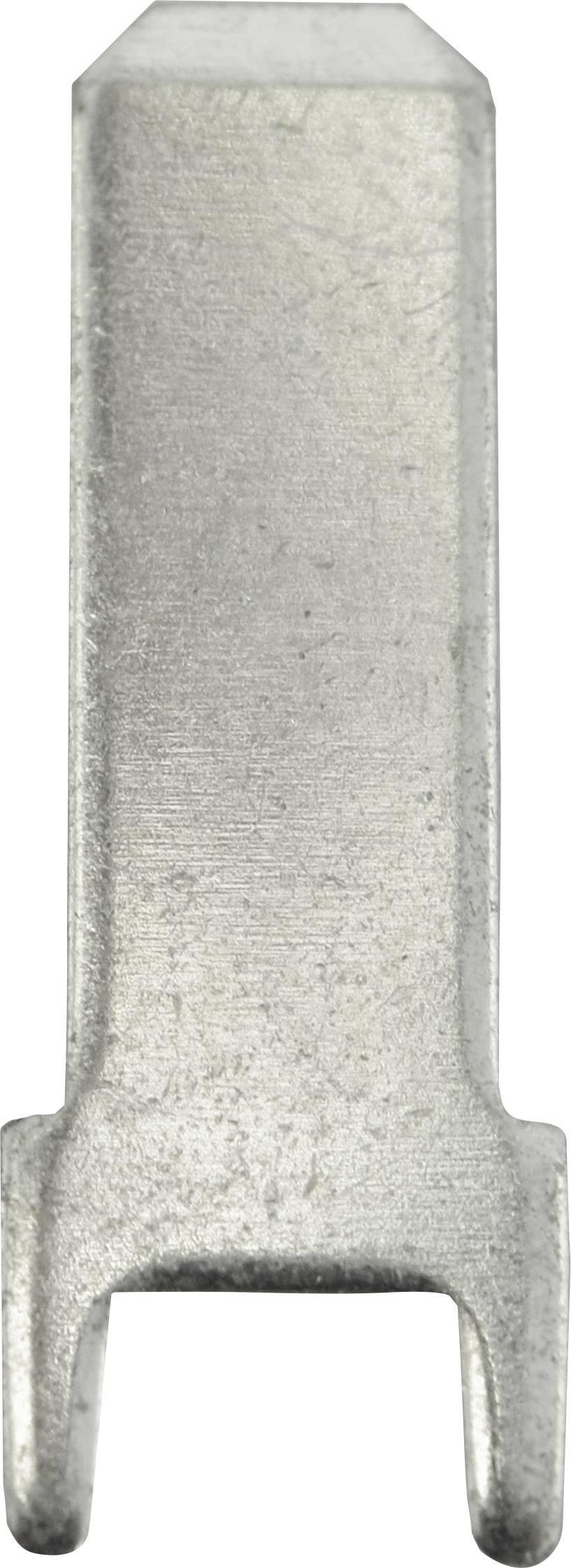 Faston zástrčka Vogt Verbindungstechnik 3825z.68 4.8 mm x 0.8 mm, 180 °, bez izolace, kov, 100 ks