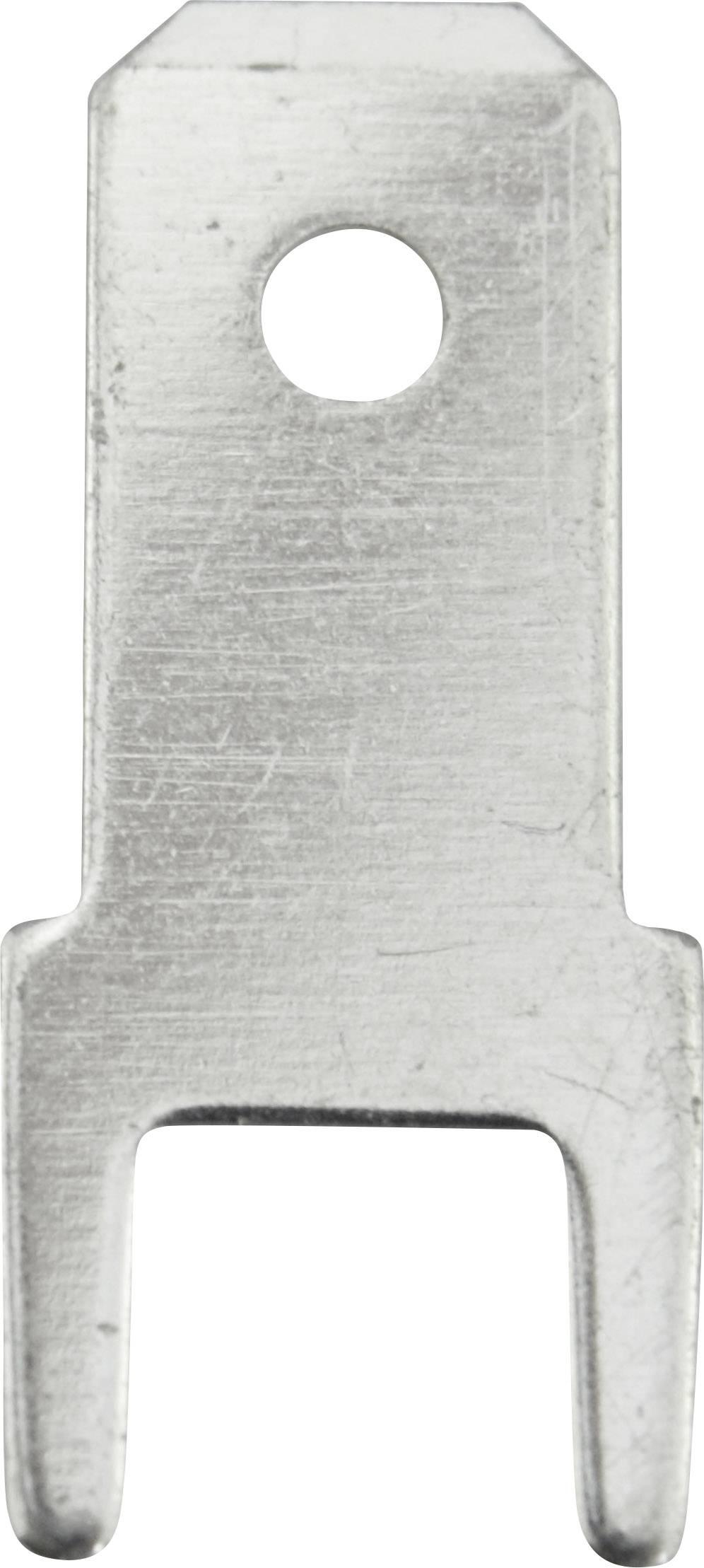 Faston zástrčka Vogt Verbindungstechnik 3825m.68 4.8 mm x 0.8 mm, 180 °, bez izolace, kov, 100 ks