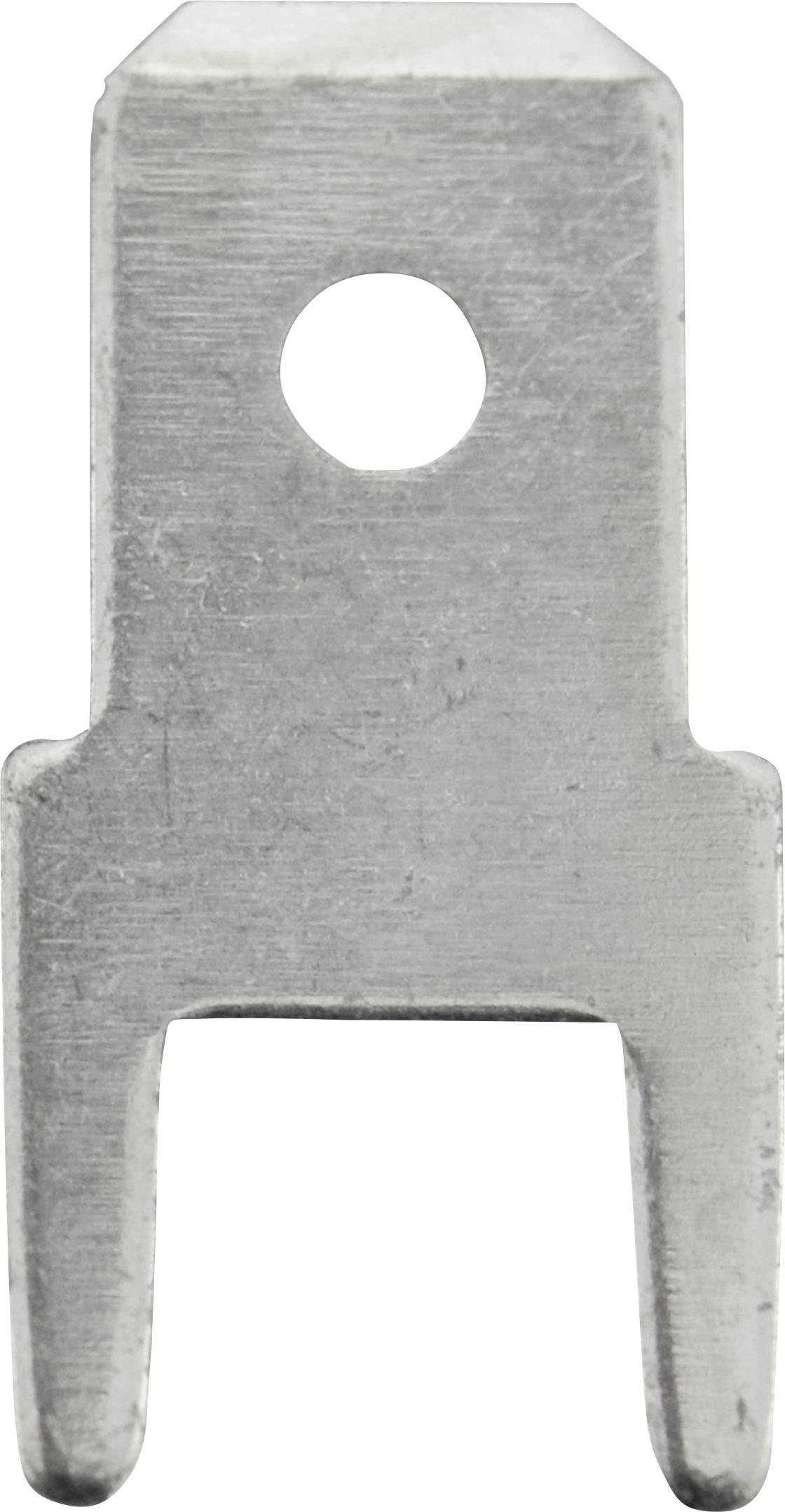 Faston zástrčka Vogt Verbindungstechnik 382505.68 4.8 mm x 0.5 mm, 180 °, bez izolace, kov, 100 ks