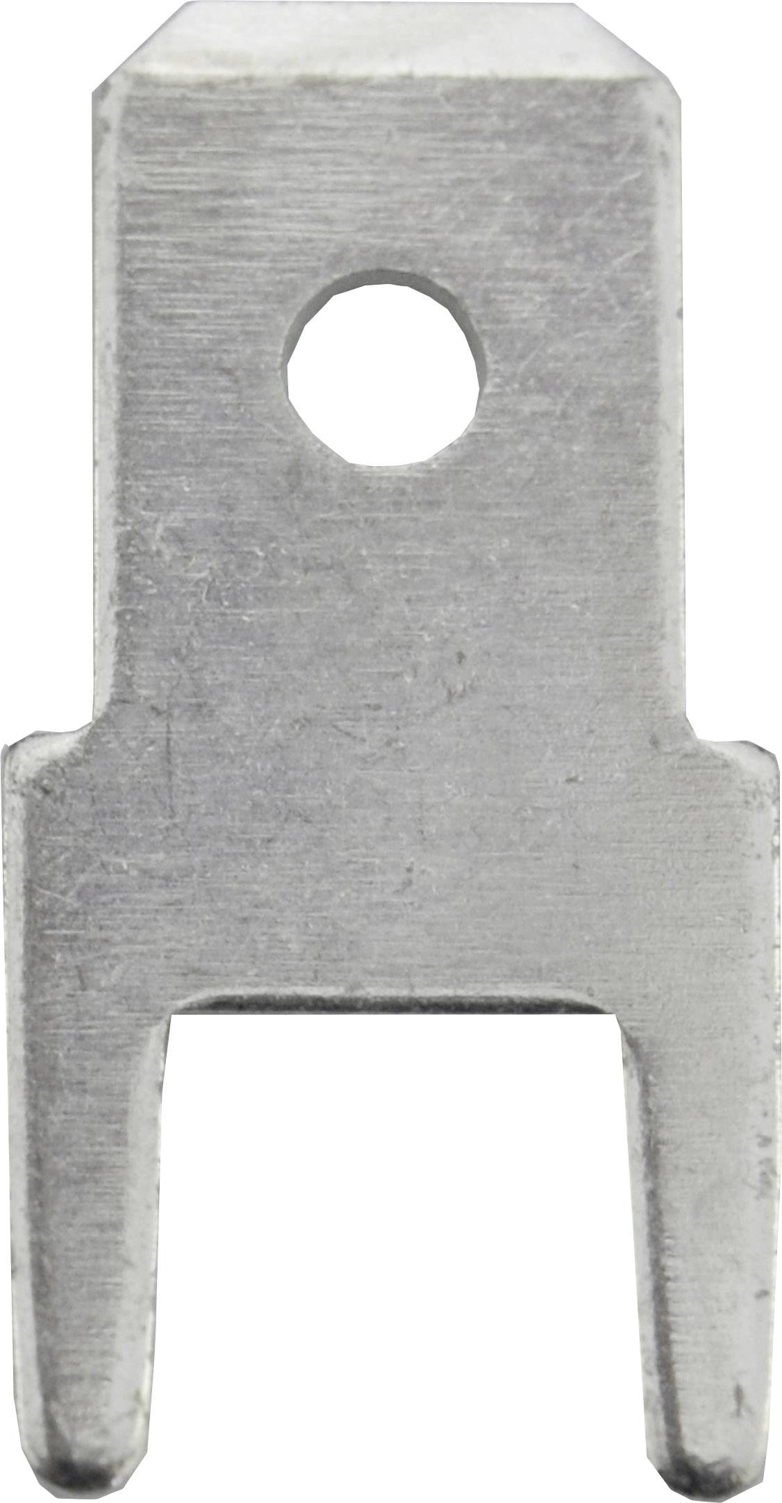 Faston zástrčka Vogt Verbindungstechnik 3825l05.68 4.8 mm x 0.5 mm, 180 °, bez izolace, kov, 100 ks