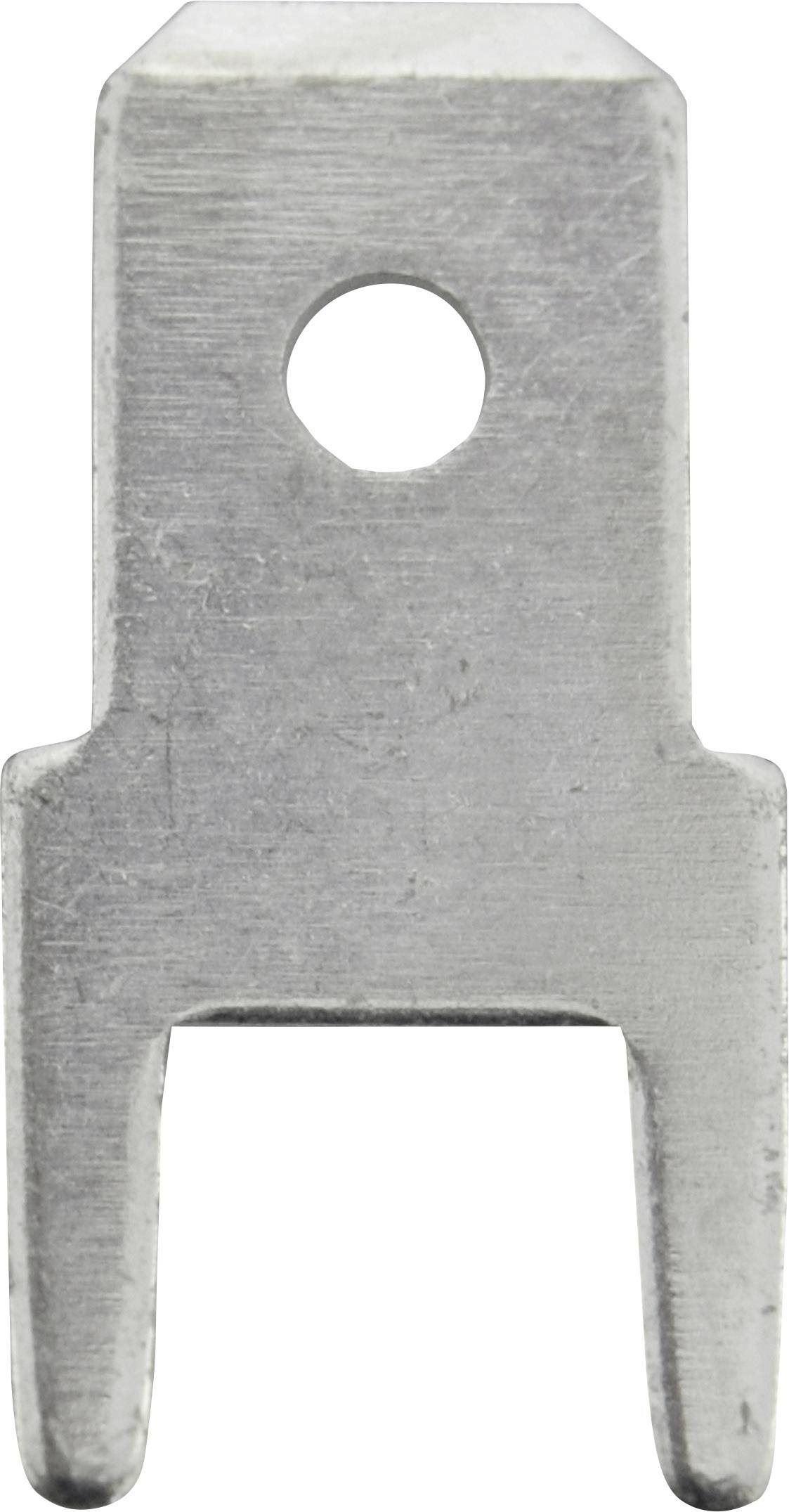 Faston zástrčka Vogt Verbindungstechnik 382508.28 4.8 mm x 0.8 mm, 180 °, bez izolace, kov, 100 ks