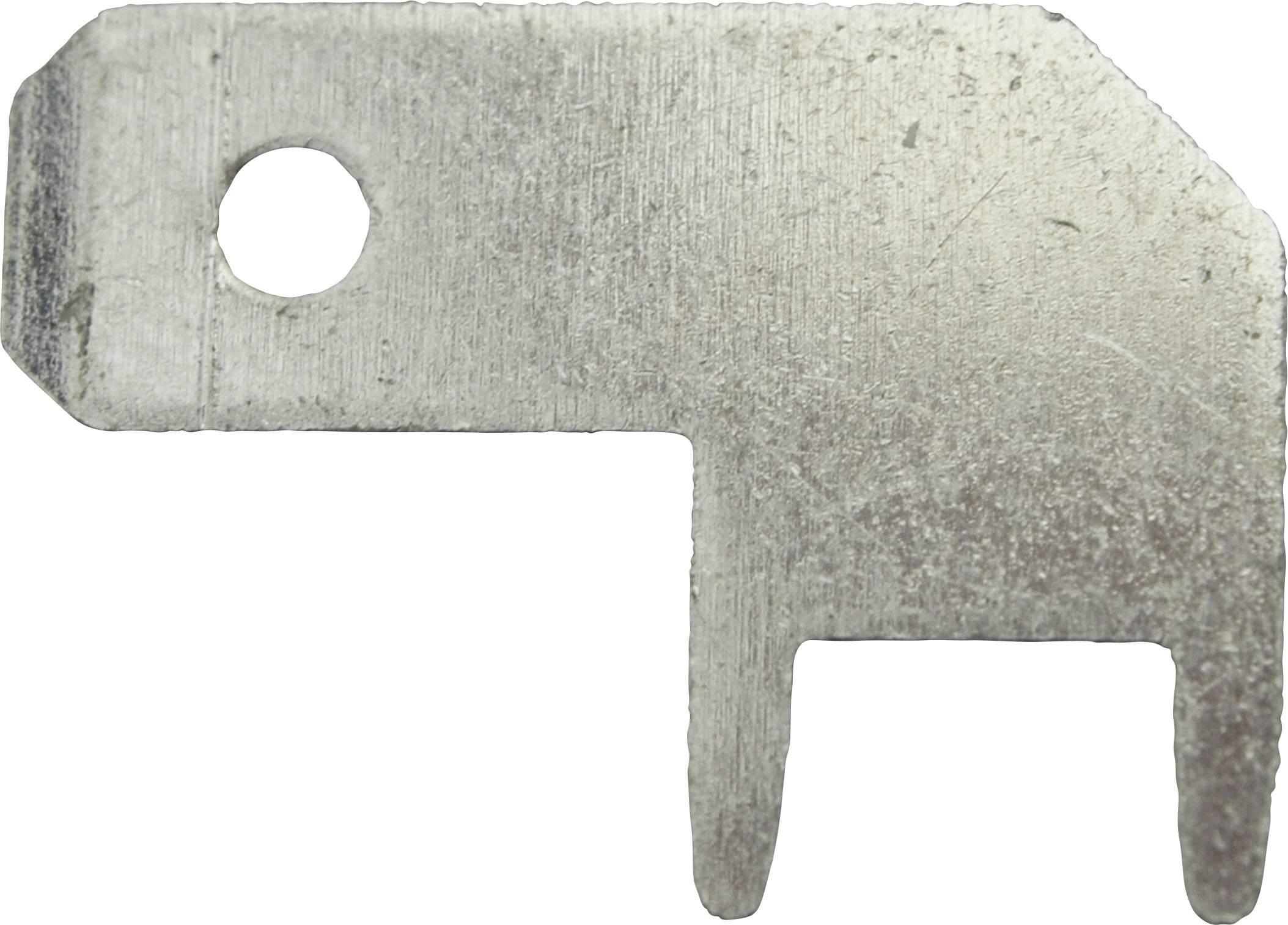 Faston zástrčka Vogt Verbindungstechnik 3827b08.68 4.8 mm x 0.8 mm, 90 °, bez izolace, kov, 100 ks