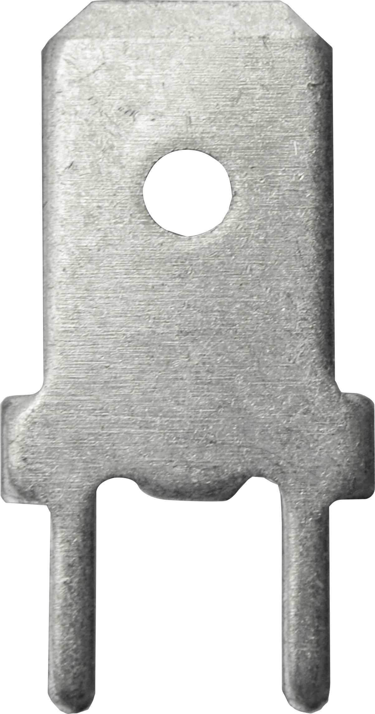 Faston zástrčka Vogt Verbindungstechnik 3866z.68 6.3 mm x 180 °, bez izolace, kov, 1 ks
