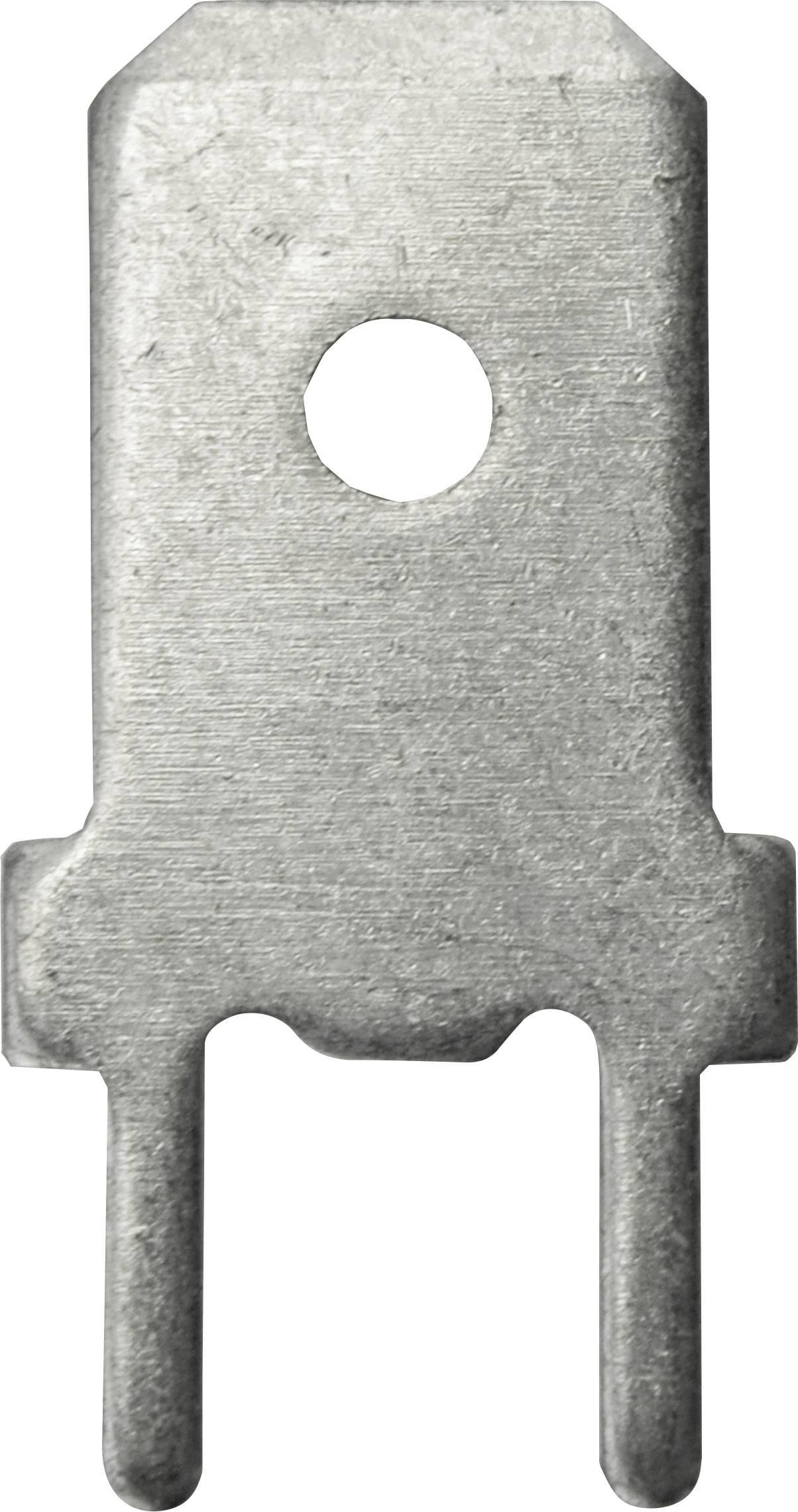 Faston zástrčka Vogt Verbindungstechnik 3866g.68 6.3 mm x 180 °, bez izolace, kov, 100 ks