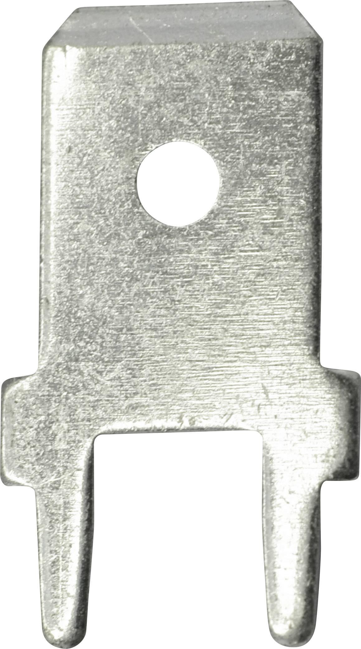 Faston zástrčka Vogt Verbindungstechnik 3866a.28 6.3 mm x 180 °, bez izolace, kov, 100 ks