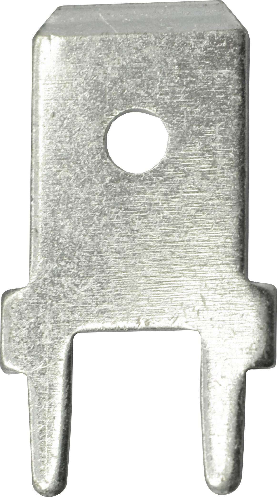 Faston zástrčka Vogt Verbindungstechnik 3866a.61 6.3 mm x 0.8 mm, 180 °, bez izolace, kov, 100 ks