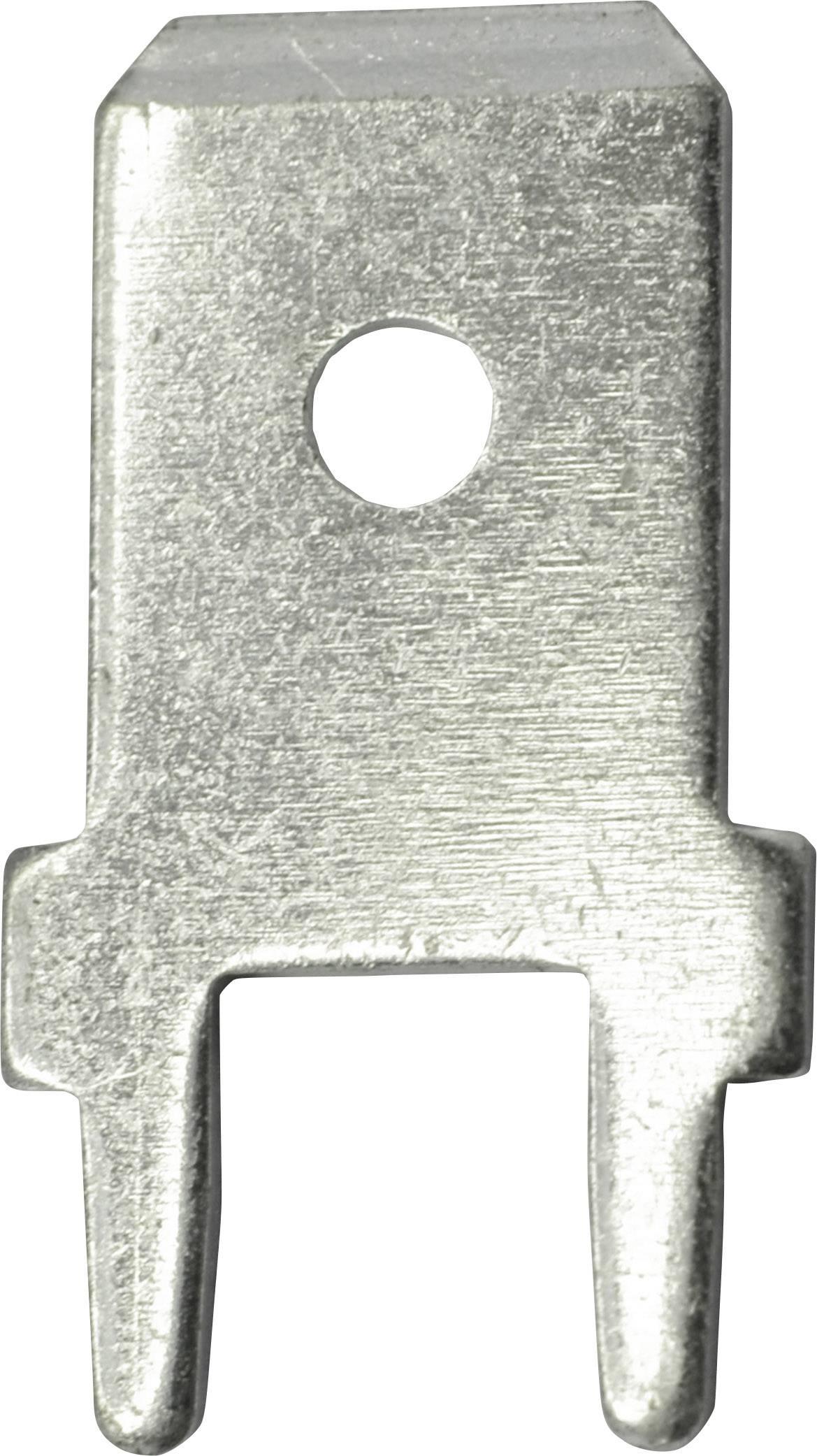 Faston zástrčka Vogt Verbindungstechnik 3866b.61 6.3 mm x 180 °, bez izolace, kov, 100 ks