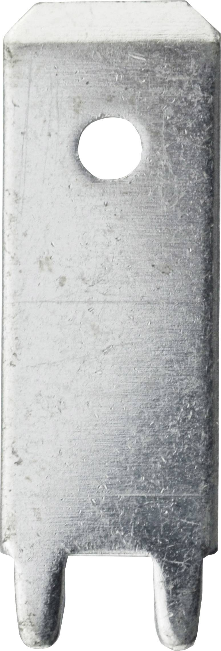 Faston zástrčka Vogt Verbindungstechnik 3866m.68 6.3 mm x 180 °, bez izolace, kov, 100 ks