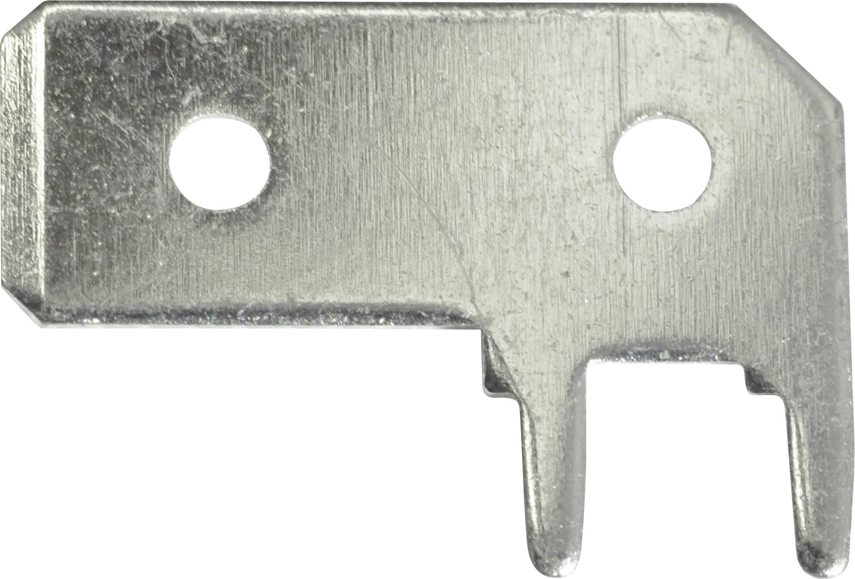 Faston zástrčka Vogt Verbindungstechnik 3868a.68 6.3 mm x 0.8 mm, 90 °, bez izolace, kov, 1 ks