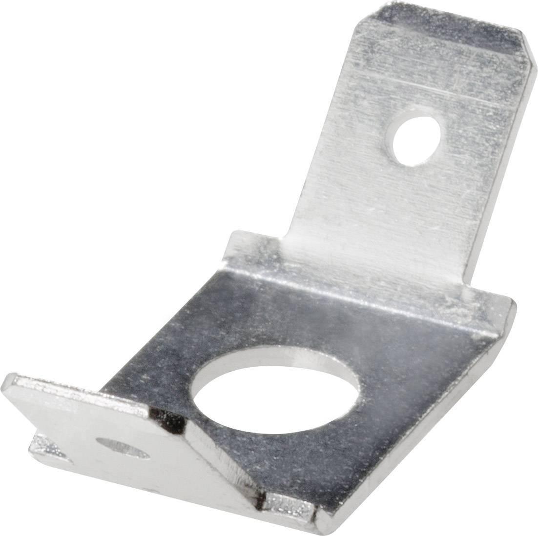 Nožová zástrčka Šírka zástrčky: 6.3 mm Hrúbka konektoru: 0.8 mm 45 °, 45 ° bez izolácie