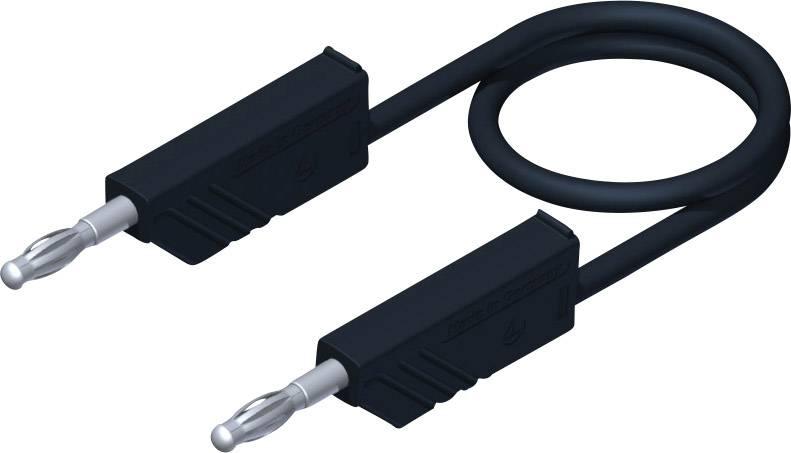 Měřicí kabel banánek 4 mm ⇔ banánek 4 mm SKS Hirschmann CO MLN 100/2,5, 1 m, černá
