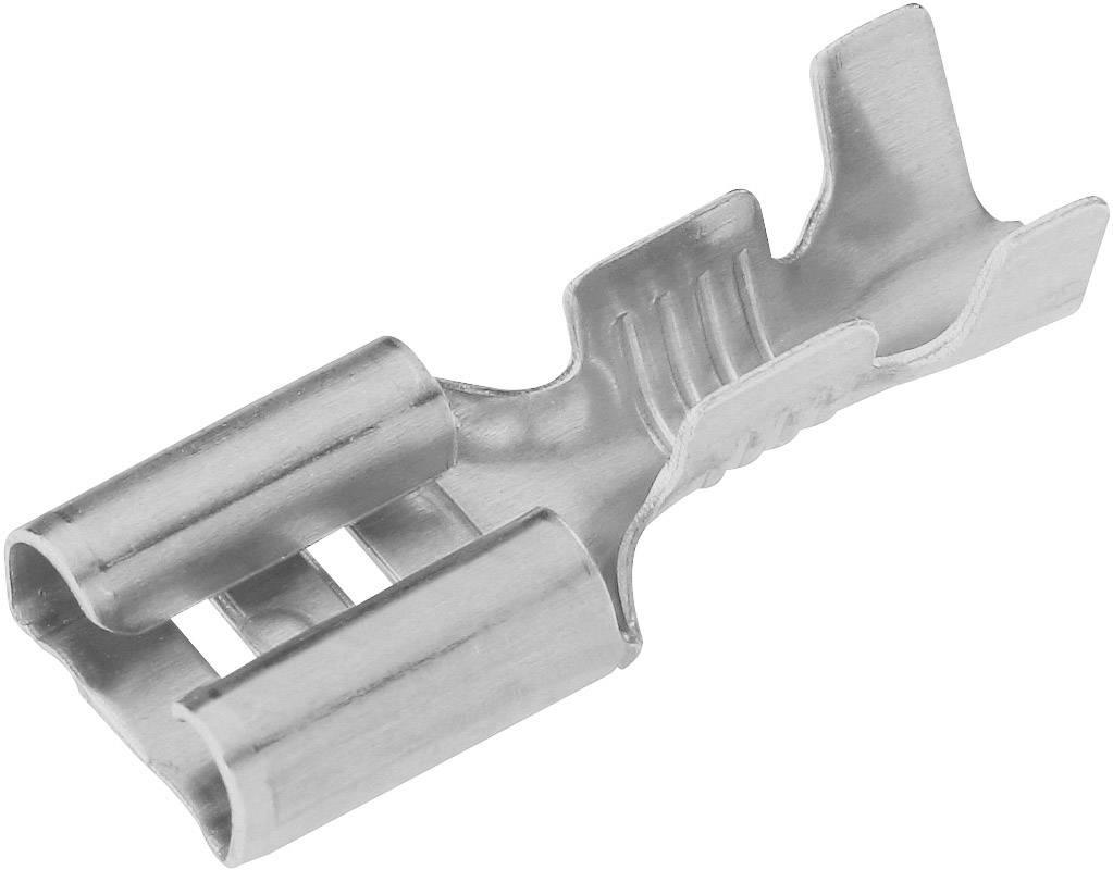 Faston konektor zásuvka Vogt Verbindungstechnik 3832d.67 so zaisťovacím hákom, 6.3 mm x 0.8 mm, 180 °, neizolované, kov, 1 ks