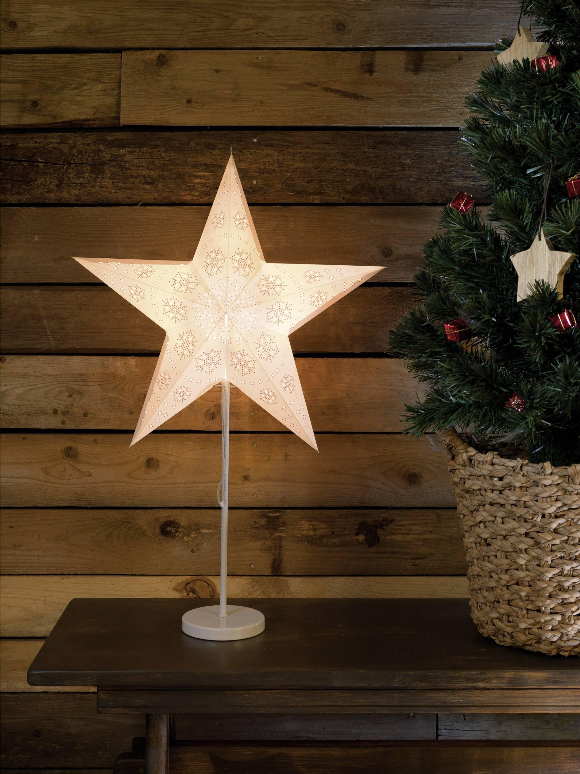 Hviezda, dekorácia na stôl Konstsmide 2991-250, biela