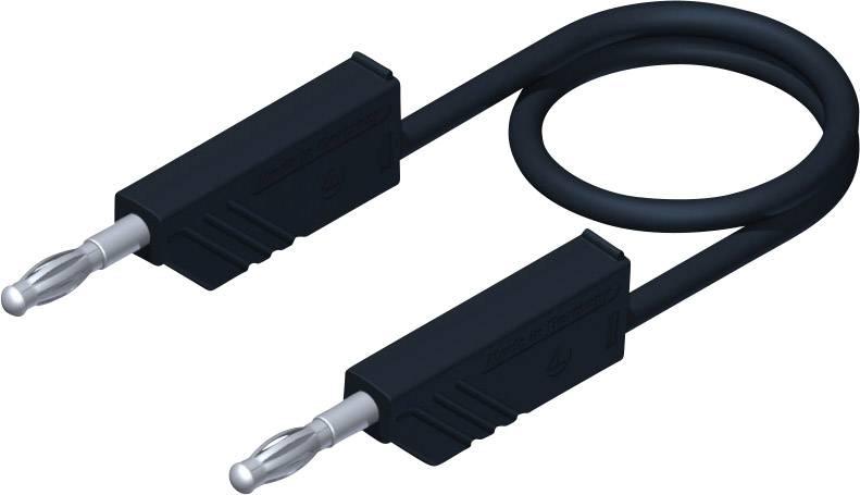 Merací silikónový kábel Hirschmann, 1 mm², dĺžka 1 m, čierny