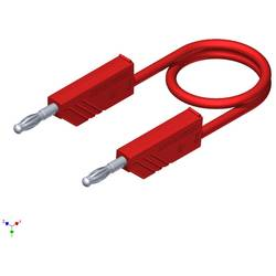 Měřicí silikonový kabel SKS Hirschmann, 1 mm², délka 0,5 m, červená