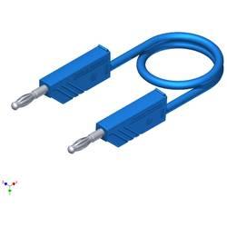 Merací silikónový kábel Hirschmann, 1 mm², dĺžka 1 m, modrý
