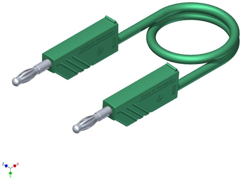 Merací silikónový kábel Hirschmann, 1 mm², dĺžka 1.5 m, zelený