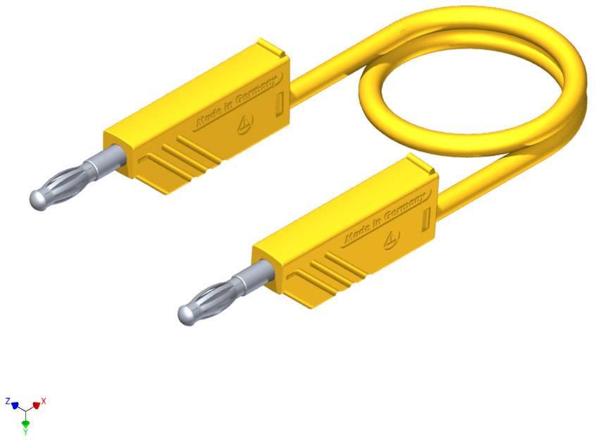 Merací silikónový kábel Hirschmann, 1 mm², dĺžka 2 m, žltý