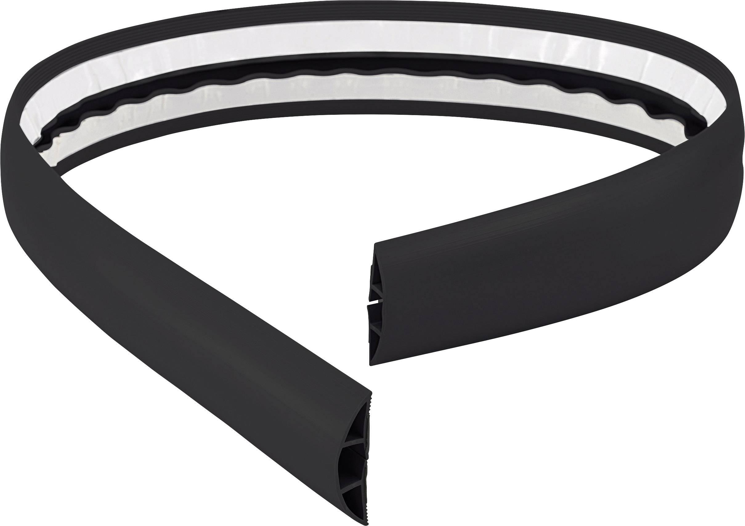 Káblový mostík Conrad Components 1226935 (d x š) 1800 mm x 50.8 mm, čierna, 1 ks