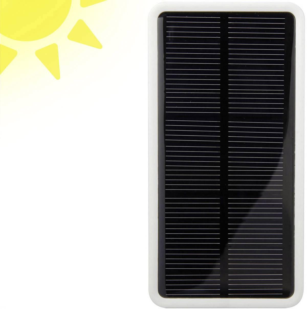 Solárny powerbank VOLTCRAFT SL-3, LiPo, 5000 mAh, biela