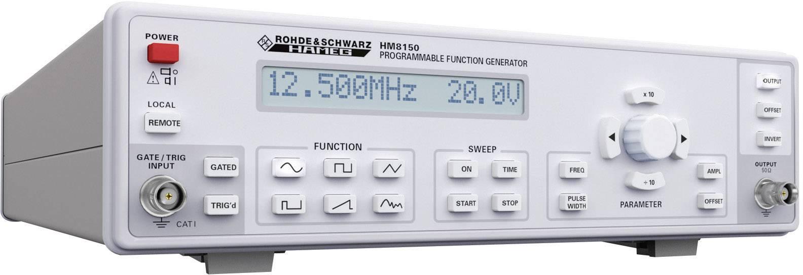 Generátor funkcí Hameg HM8030-6, 0,01 Hz - 12,5 MHz