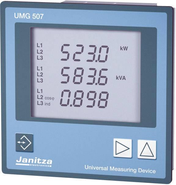 Panelové měřidlo Janitza UMG 507E, CAT III, 85 - 265 V/AC a 80 - 370 V/DC