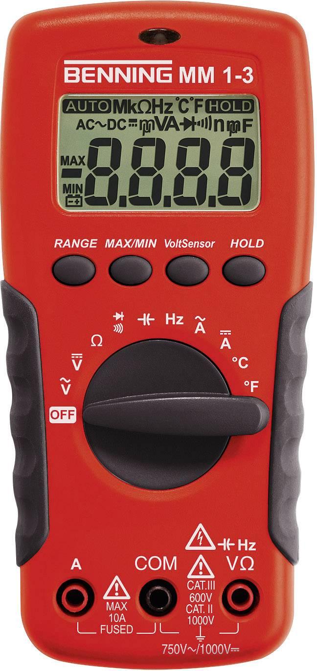 Digitální multimetr Benning MM1-3, 0,1 Ω - 20 MΩ, 1 Hz - 20 MHz, 1 pF - 2 mF, -20 - 800 °C