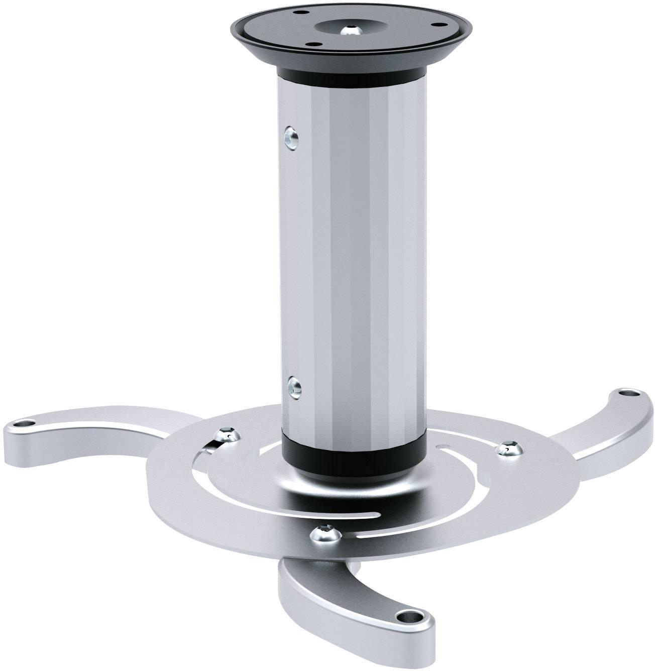 Stropný držiak na projektor sklápajúci, otočný SpeaKa Professional 1227389 SP-4909556, strieborná