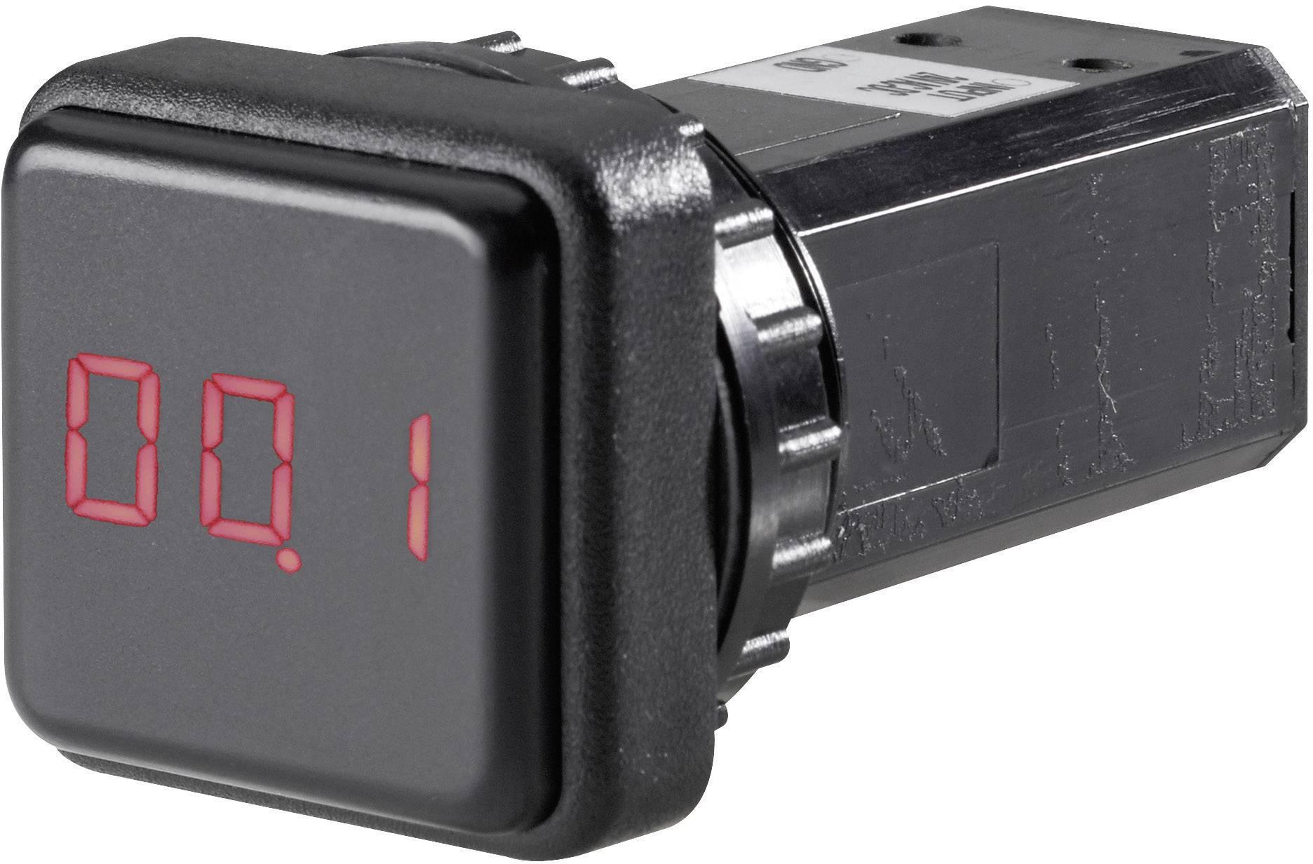 Montážny LED displej Weigel QMD, 0 - 15 A/DC, 24 V/DC
