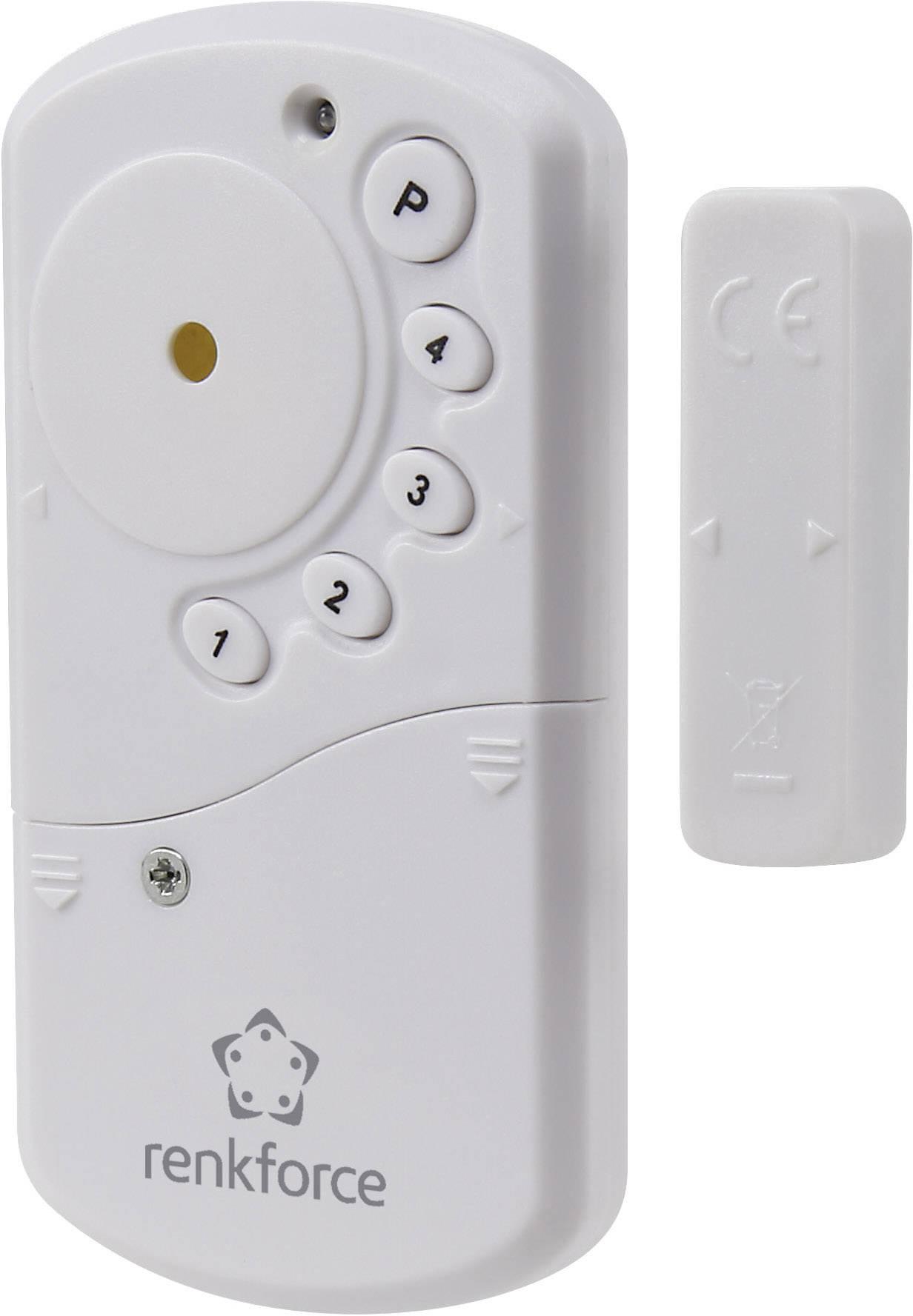 Dverový a okenný alarm s klávesnicou RENKFORCE, 100 dB