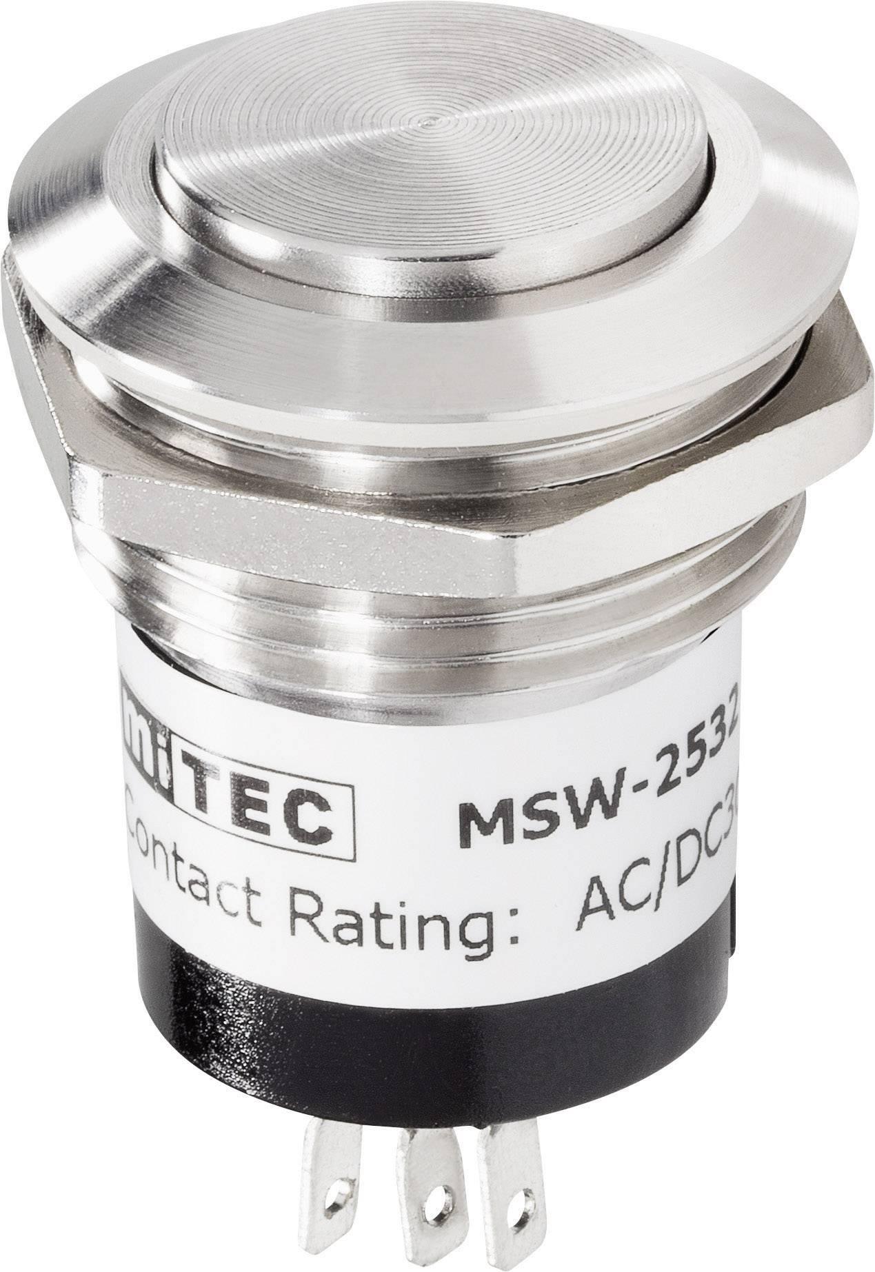 Zvončekové nerezové tlačidlo RENKFORCE, 24 V / 1 A, 28 mm