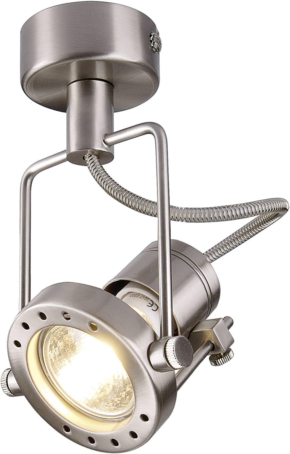 Stropní lampa halogenová žárovka, LED GU10 50 W SLV N-TIC 131108 chrom (matný)