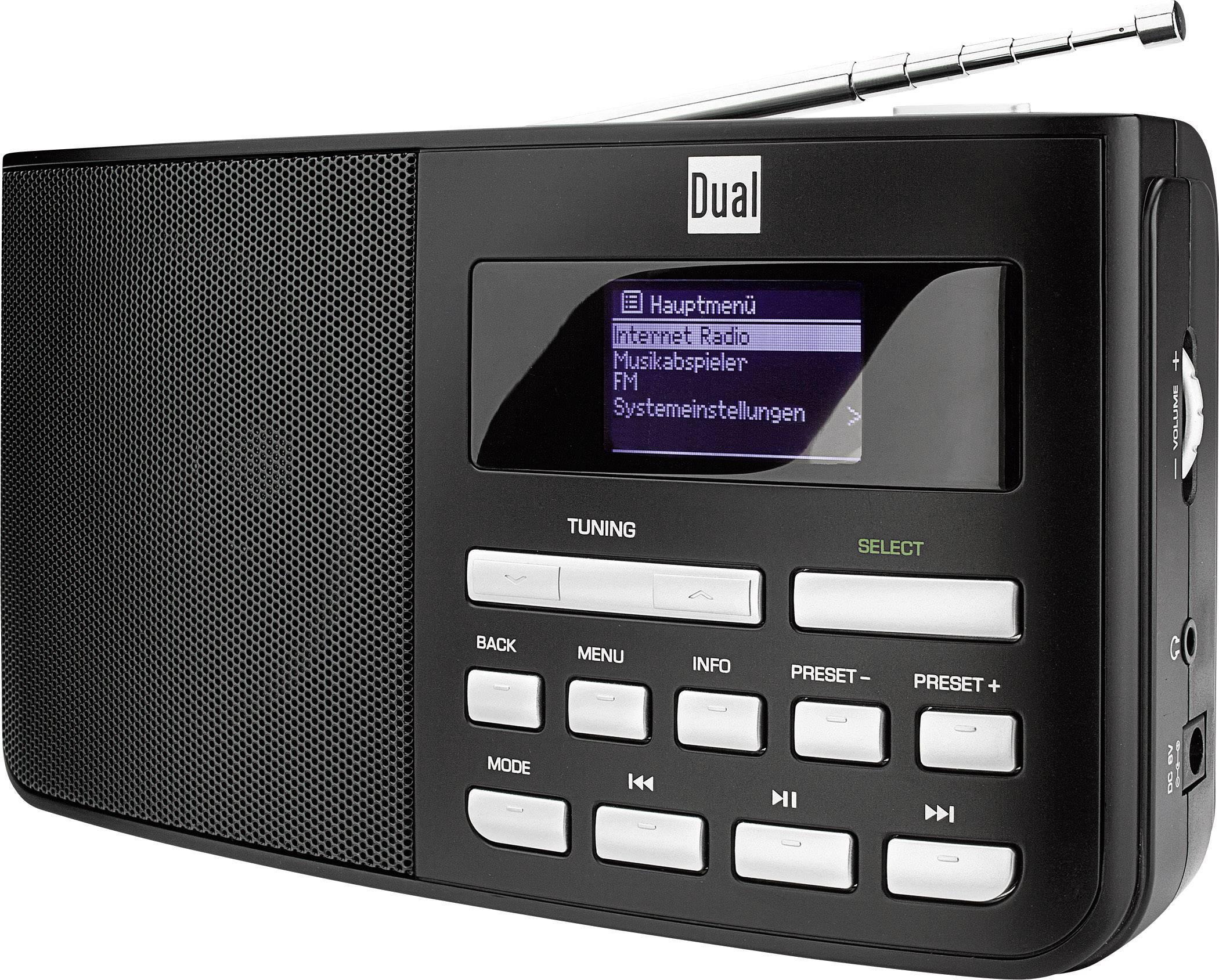 Internetové přenosné rádio s Wi-Fi, Dual IR 5.1, černá
