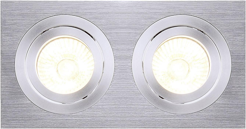 Vestavný kroužek - halogenová žárovka SLV New Tria II 111362 GU10, 100 W, hliník (kartáčovaný)