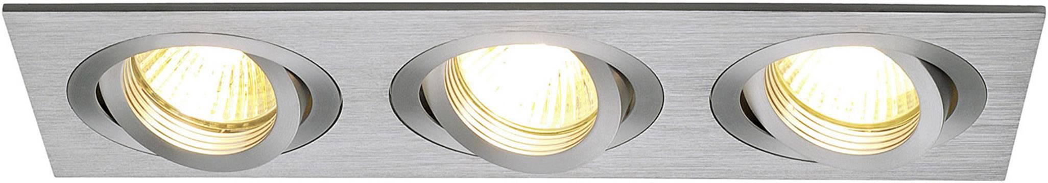 - halogénová žiarovka SLV New Tria III 111363 GU10, 150 W, hliník (kartáčovaný)