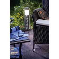 Solární zahradní svítidlo Esotec Rattan 102073, stříbrnošedá