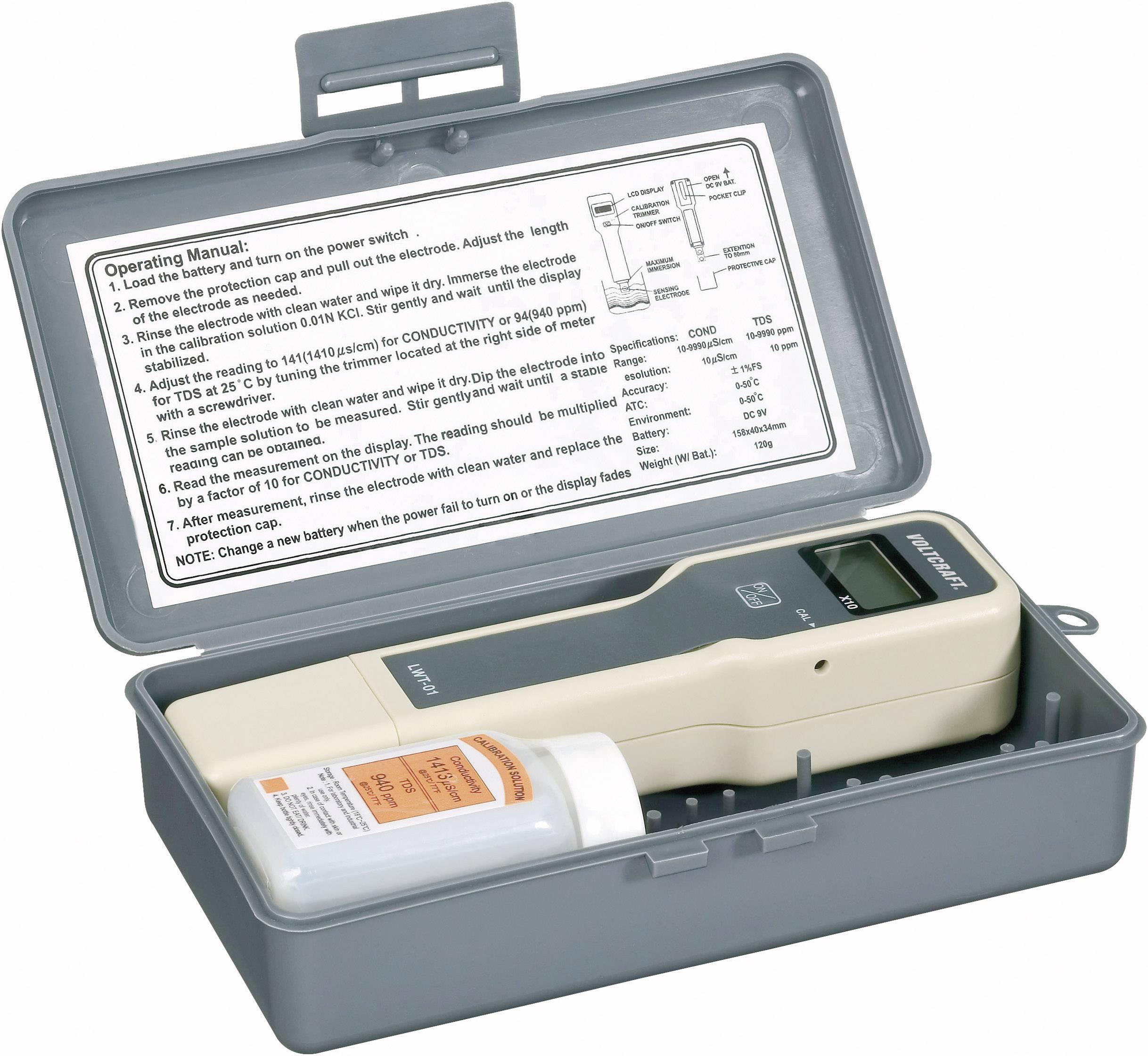 Měřič vodivosti Voltcraft LWT-01, 0-9999 uS/cm