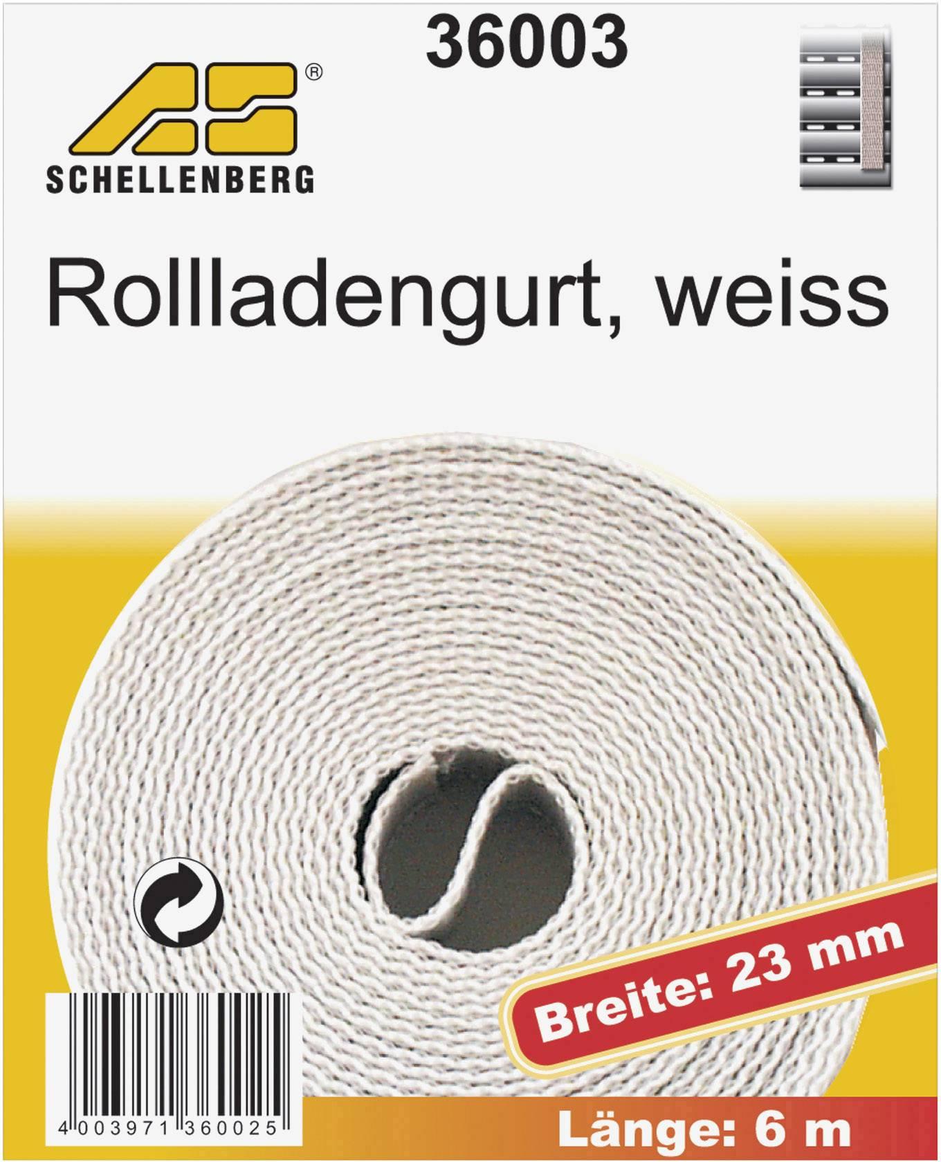 Popruhy pro rolety Schellenberg 36003, 6 m, bílá, vhodné pro Schellenberg Maxi