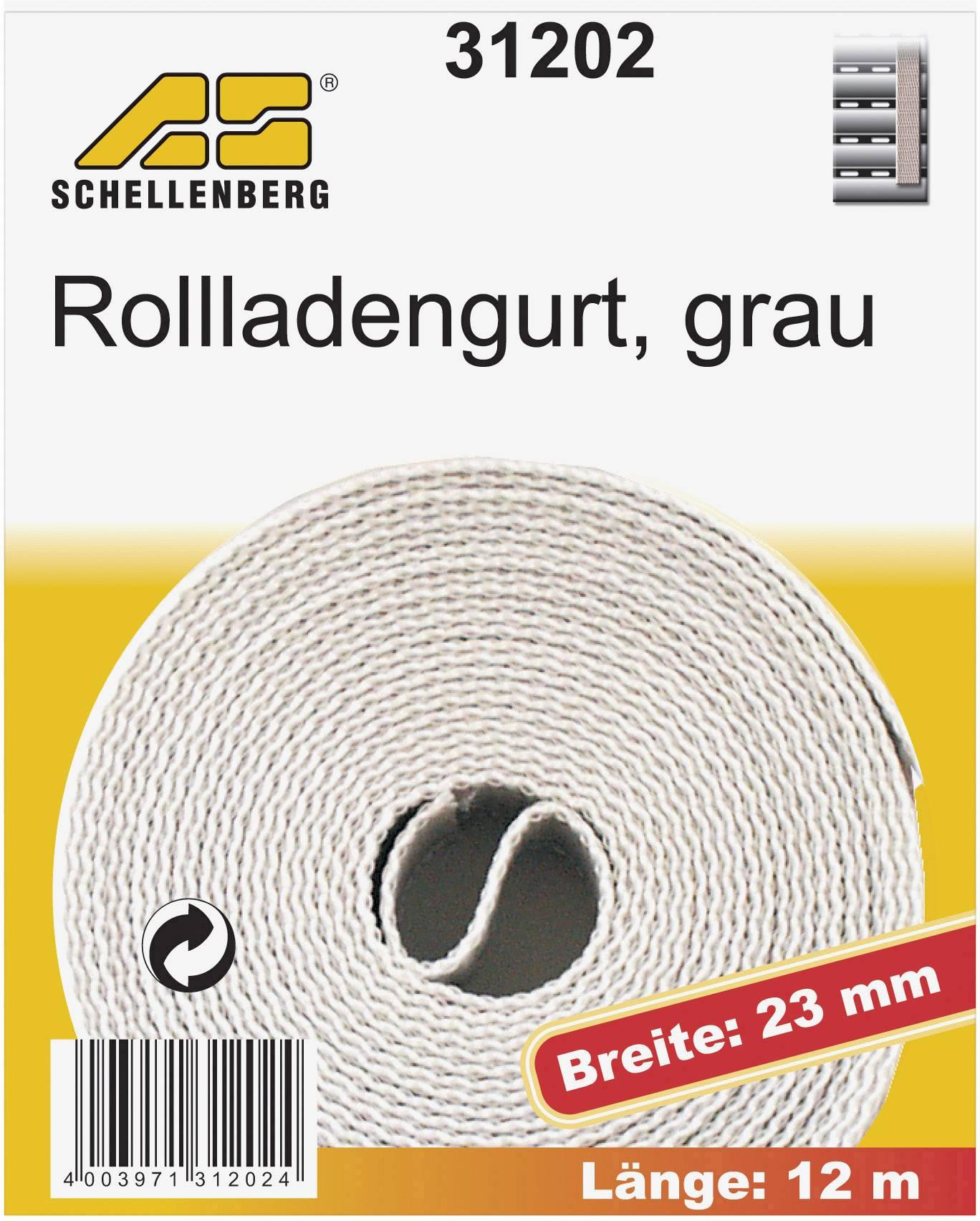 Popruhy pre rolety Schellenberg 31202, 12 m, sivá, vhodné pre Schellenberg Maxi