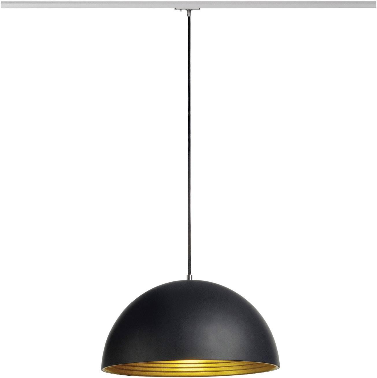 Závesné svietidlo úsporná žiarovka, LED SLV Forchini M 143930, E27, 40 W, čierna, zlatá