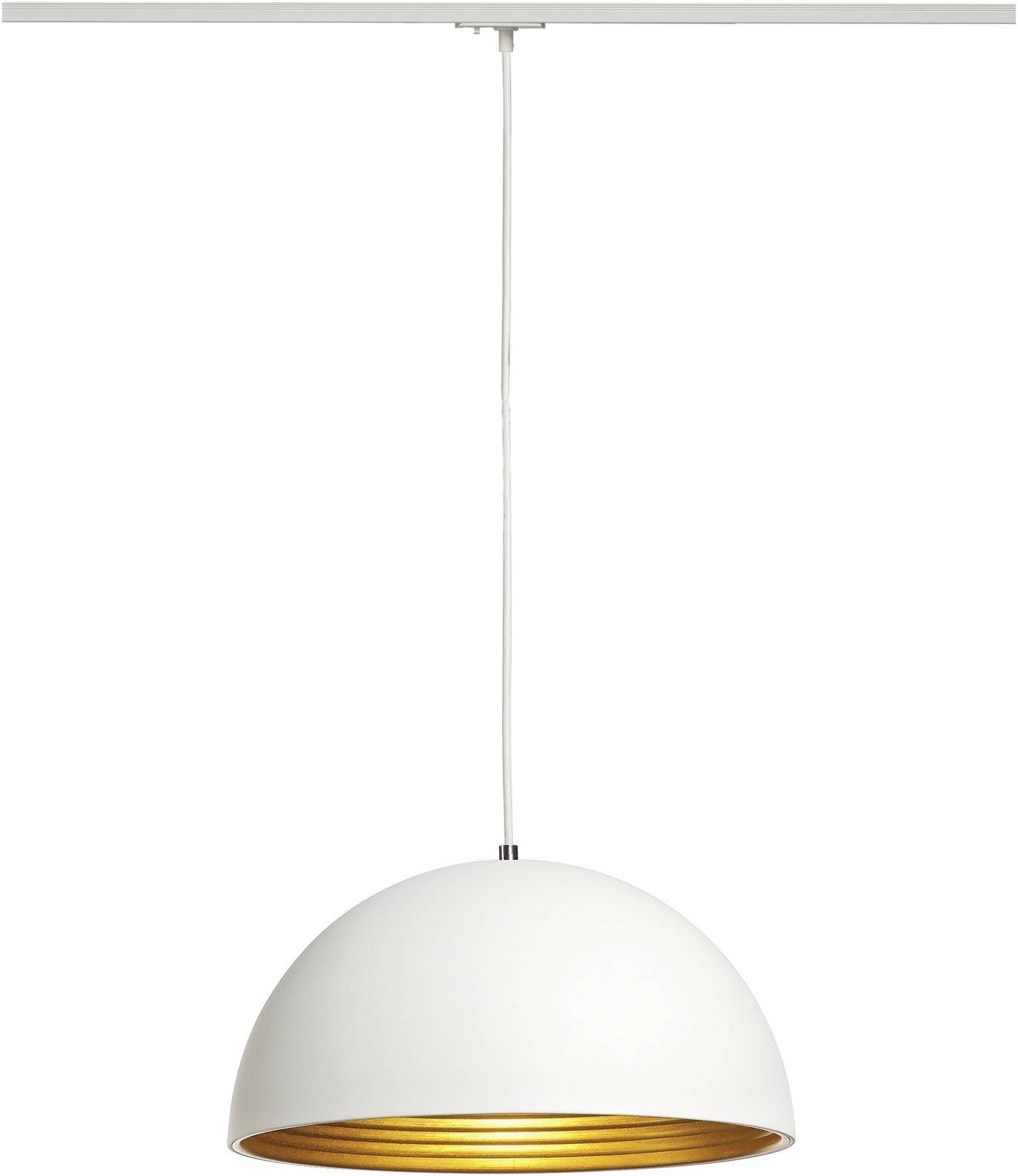 Závěsné světlo úsporná žárovka, LED SLV Forchini M 143931, E27, 40 W, bílá, zlatá