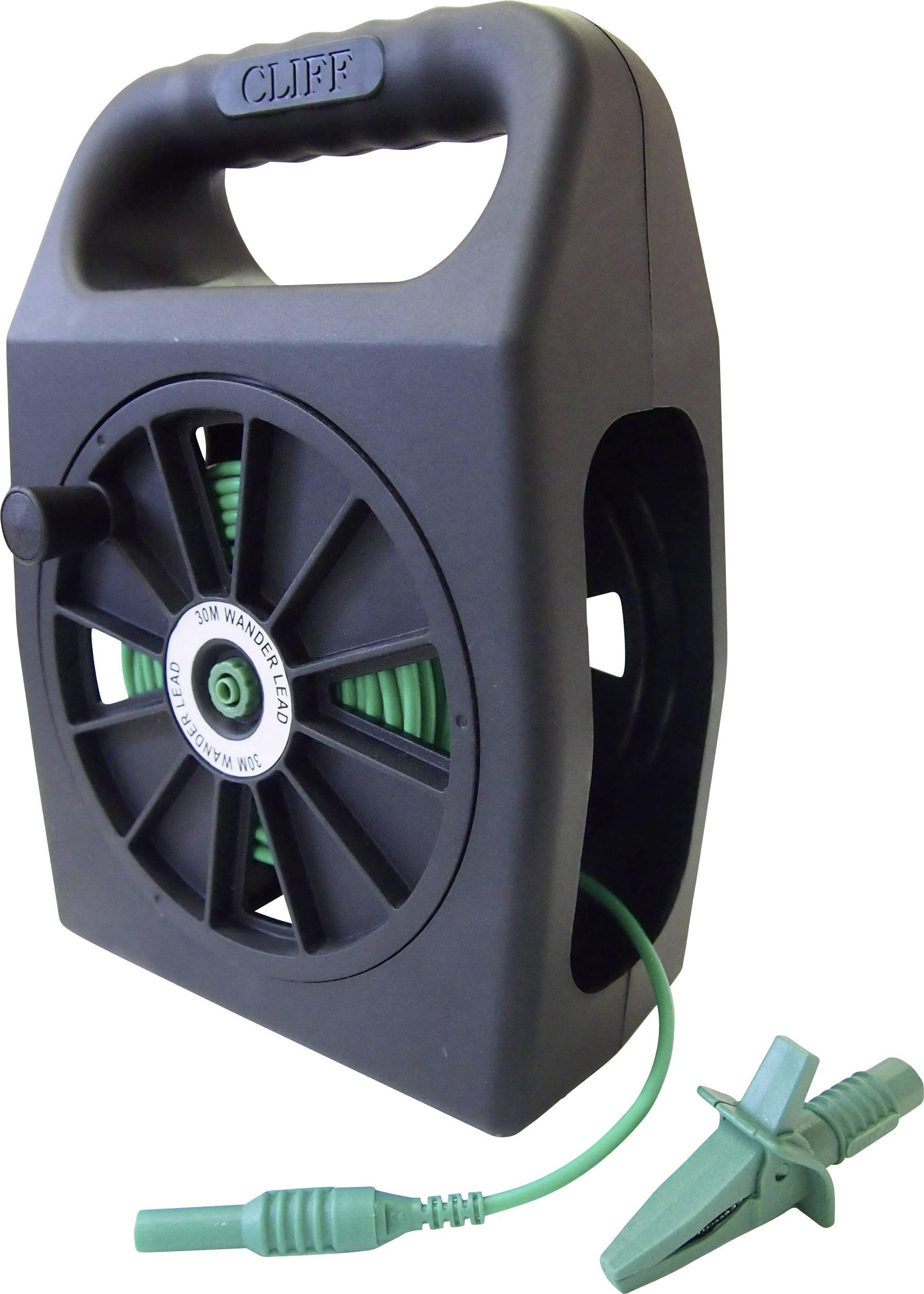 Merací kábel zástrčka 4 mm ⇔ zásuvka 4 mm Cliff CIH299430, 30 m, zelená
